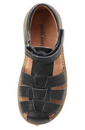 Детские кожаные босоножки PETIT NORD синего цвета, арт. 2543/25-30 | Фото 4 (Материал внутренний: Натуральная кожа)