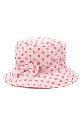 Детская хлопковая панама CATYA светло-розового цвета, арт. 115049/1 | Фото 1