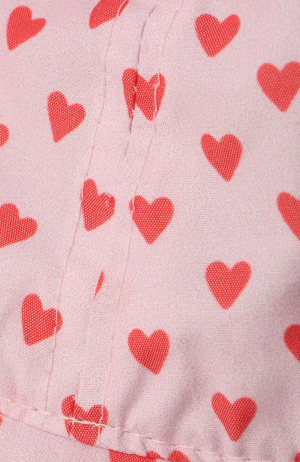 Детская хлопковая панама CATYA светло-розового цвета, арт. 115049/1 | Фото 3