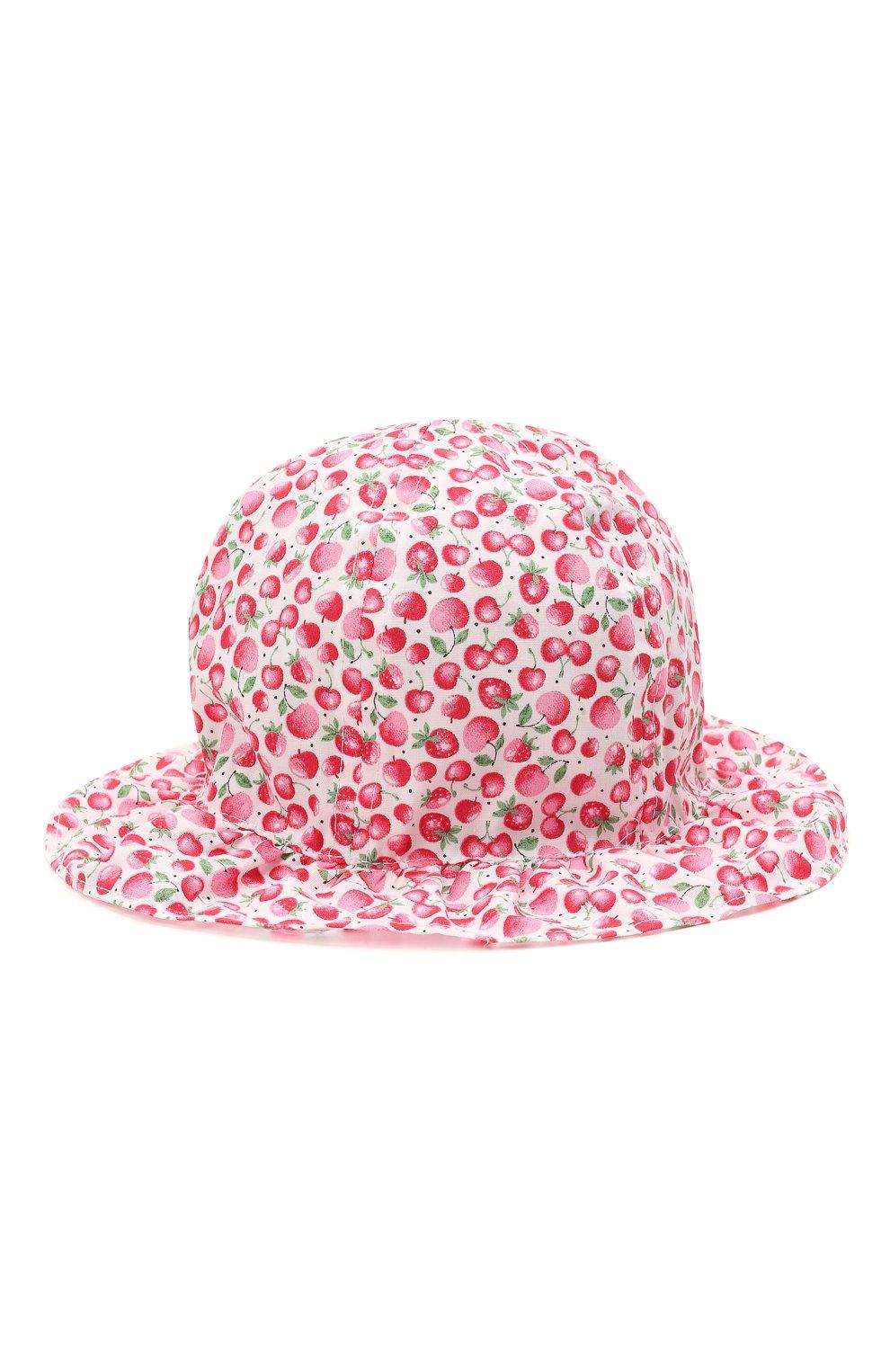 Детская хлопковая панама CATYA розового цвета, арт. 115051   Фото 1