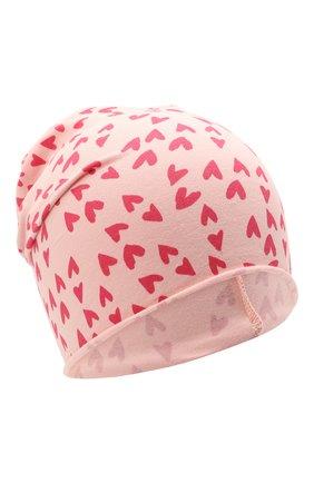 Детского хлопковая шапка CATYA розового цвета, арт. 115071 | Фото 1
