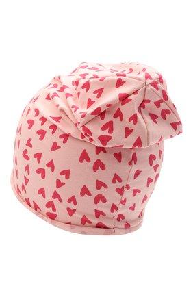 Детского хлопковая шапка CATYA розового цвета, арт. 115071 | Фото 2