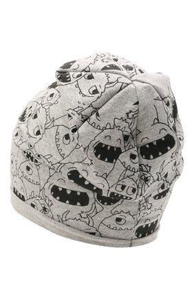 Детского хлопковая шапка CATYA серого цвета, арт. 115083 | Фото 2