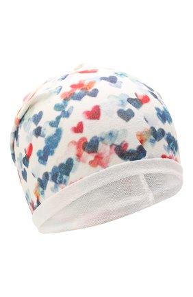 Детского хлопковая шапка CATYA белого цвета, арт. 115100 | Фото 1