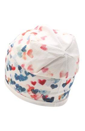 Детского хлопковая шапка CATYA белого цвета, арт. 115100 | Фото 2