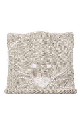 Детского хлопковая шапка CATYA серого цвета, арт. 115134 | Фото 1