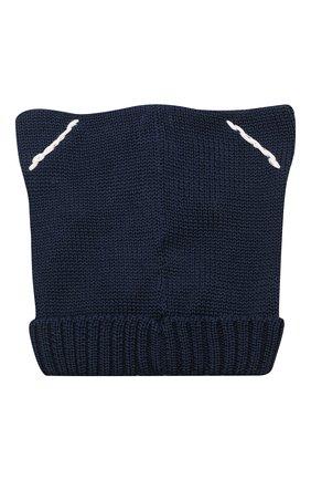 Детского хлопковая шапка CATYA синего цвета, арт. 115144 | Фото 2