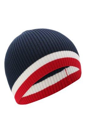 Детского хлопковая шапка CATYA синего цвета, арт. 115177 | Фото 1