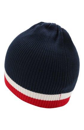 Детского хлопковая шапка CATYA синего цвета, арт. 115177 | Фото 2
