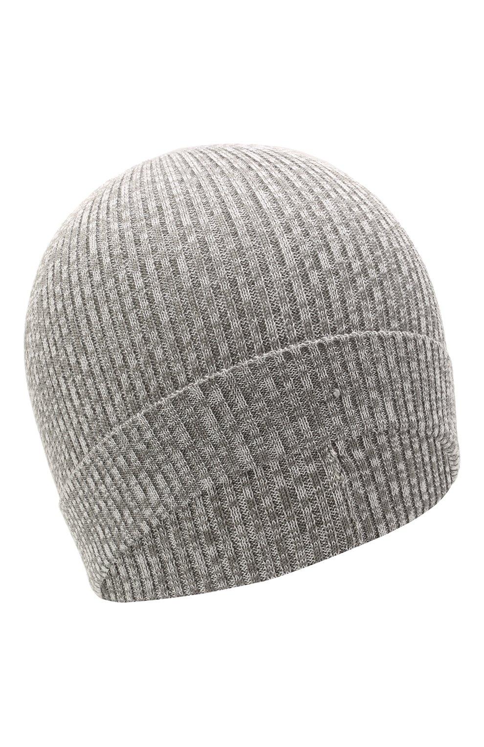 Детского хлопковая шапка CATYA серого цвета, арт. 115178   Фото 1