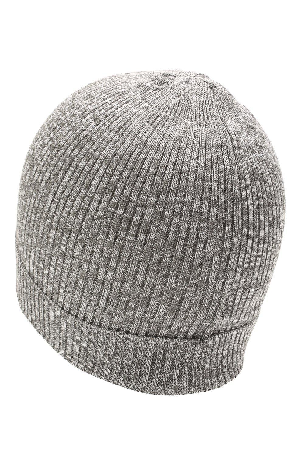 Детского хлопковая шапка CATYA серого цвета, арт. 115178   Фото 2