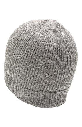 Детского хлопковая шапка CATYA серого цвета, арт. 115178 | Фото 2