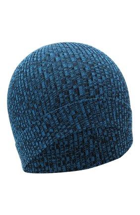 Детского хлопковая шапка CATYA синего цвета, арт. 115178 | Фото 1 (Материал: Текстиль, Хлопок)