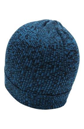 Детского хлопковая шапка CATYA синего цвета, арт. 115178 | Фото 2 (Материал: Текстиль, Хлопок)