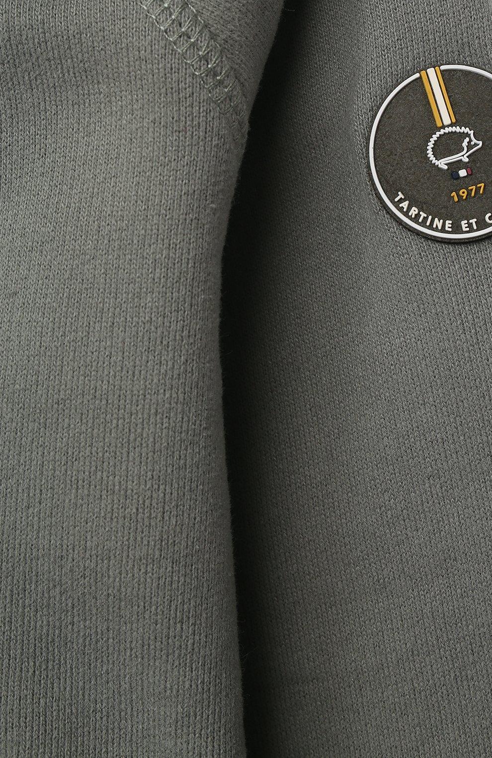 Детский хлопковая толстовка TARTINE ET CHOCOLAT хаки цвета, арт. TS17001/1M-1A | Фото 3