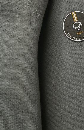 Детский хлопковая толстовка TARTINE ET CHOCOLAT хаки цвета, арт. TS17001/18M-3A   Фото 3 (Рукава: Длинные; Материал внешний: Хлопок; Ростовка одежда: 18 мес   86 см, 24 мес   92 см, 36 мес   98 см)