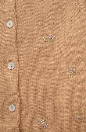 Детский хлопковый кардиган TARTINE ET CHOCOLAT светло-коричневого цвета, арт. TS18051/1M-1A | Фото 3