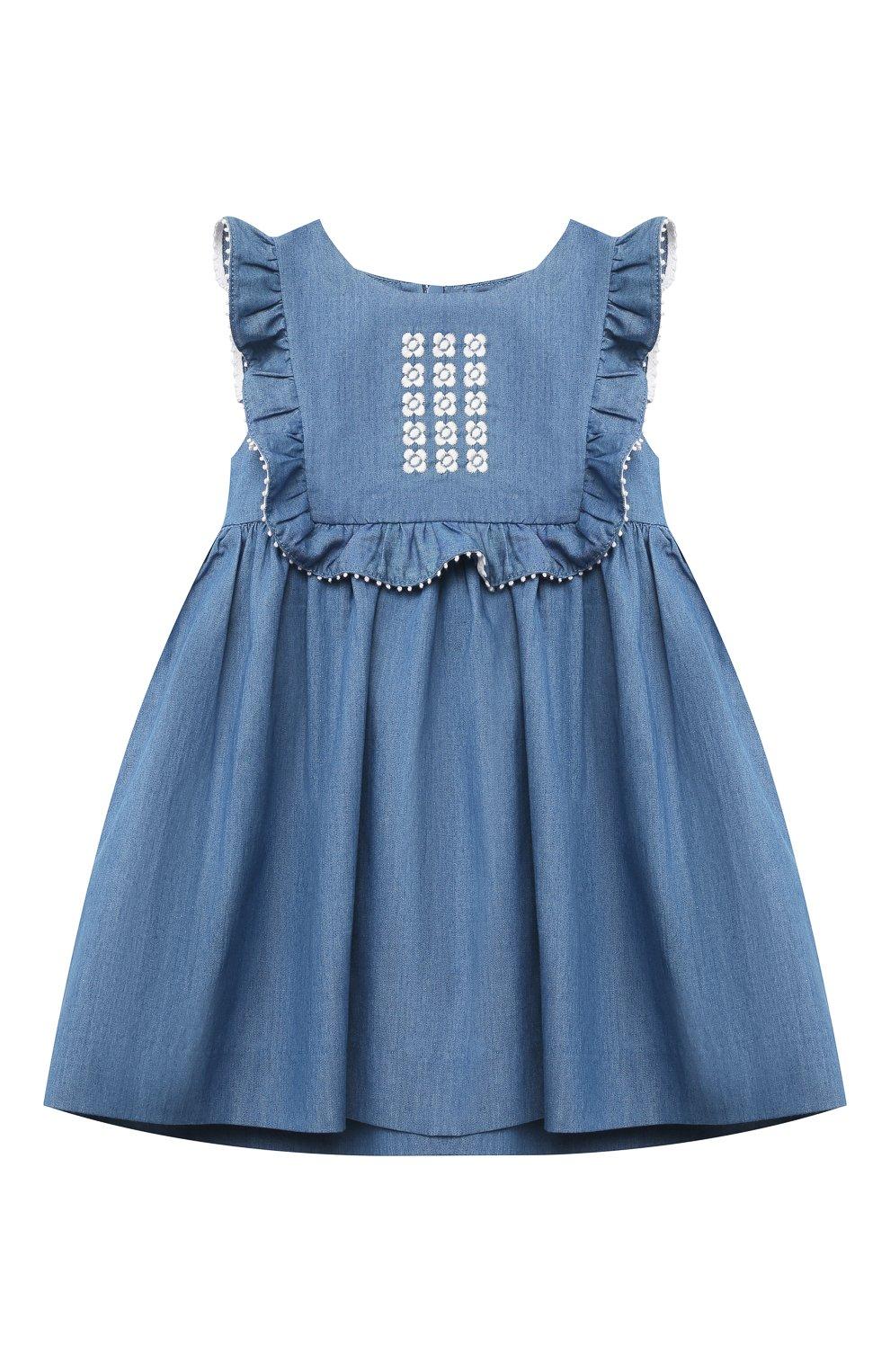 Женский хлопковое платье TARTINE ET CHOCOLAT синего цвета, арт. TS31001/1M-1A | Фото 1