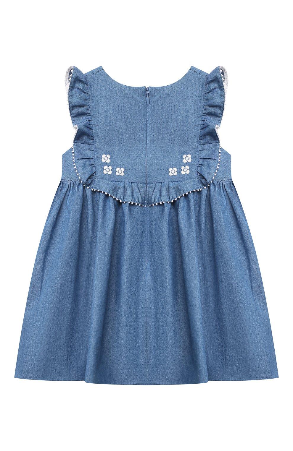 Женский хлопковое платье TARTINE ET CHOCOLAT синего цвета, арт. TS31001/1M-1A | Фото 2