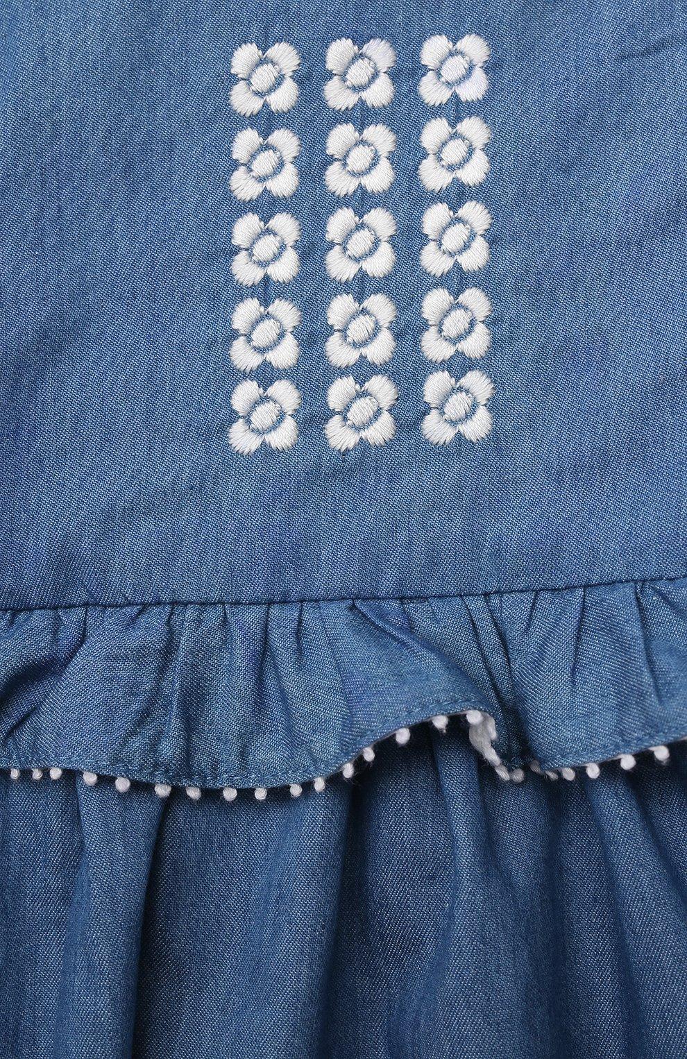 Женский хлопковое платье TARTINE ET CHOCOLAT синего цвета, арт. TS31001/1M-1A | Фото 3