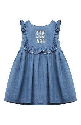 Женский хлопковое платье TARTINE ET CHOCOLAT синего цвета, арт. TS31001/18M-3A | Фото 1