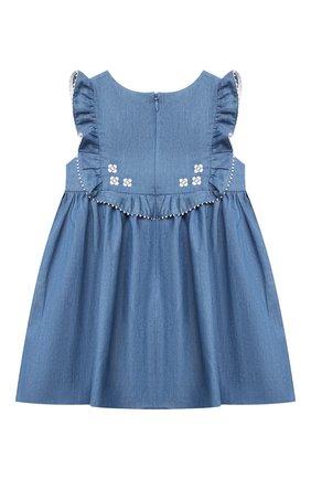 Женский хлопковое платье TARTINE ET CHOCOLAT синего цвета, арт. TS31001/18M-3A | Фото 2