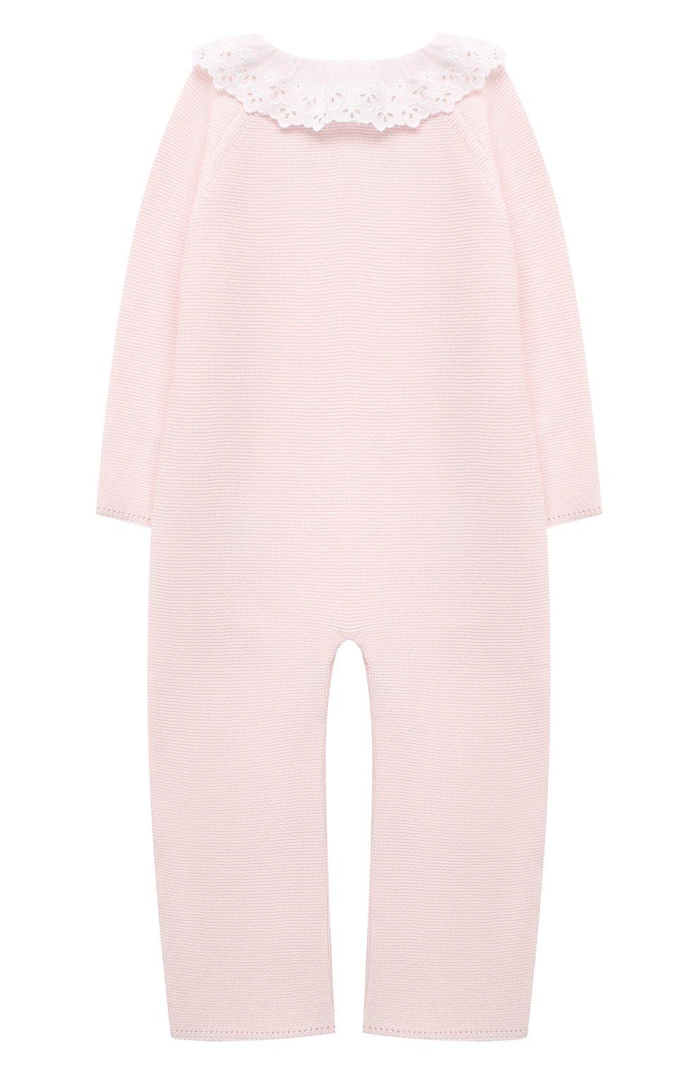 Детский хлопковый комбинезон TARTINE ET CHOCOLAT светло-розового цвета, арт. TS32001/1M-1A | Фото 2