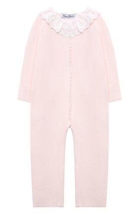 Детский хлопковый комбинезон TARTINE ET CHOCOLAT светло-розового цвета, арт. TS32001/18M-3A | Фото 1