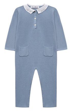 Детский хлопковый комбинезон TARTINE ET CHOCOLAT синего цвета, арт. TS32021/18M-3A | Фото 1
