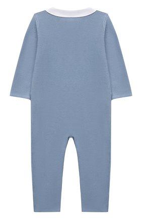 Детский хлопковый комбинезон TARTINE ET CHOCOLAT синего цвета, арт. TS32021/18M-3A | Фото 2