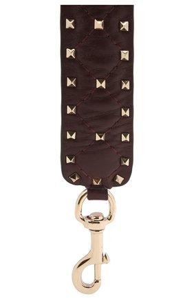 Женские кожаный ремень для сумки valentino garavani rockstud spike VALENTINO бордового цвета, арт. QW0P0P37/NAP | Фото 2