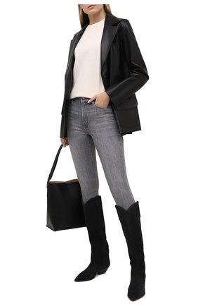 Женские джинсы BOSS светло-серого цвета, арт. 50447969 | Фото 2