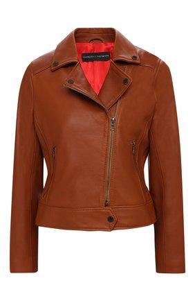 Женская кожаная куртка MASLOV коричневого цвета, арт. K05   Фото 1