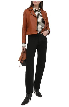 Женская кожаная куртка MASLOV коричневого цвета, арт. K05   Фото 2