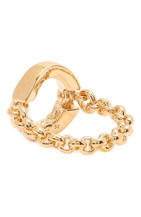 Женское кольцо alphabet o CHLOÉ золотого цвета, арт. CHC21SFR00CB7 | Фото 2 (Материал: Металл)