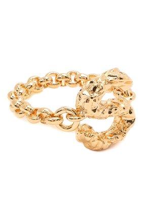 Женское кольцо alphabet s CHLOÉ золотого цвета, арт. CHC21SFR0SCB7 | Фото 1 (Материал: Металл)