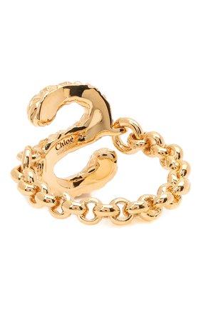 Женское кольцо alphabet s CHLOÉ золотого цвета, арт. CHC21SFR0SCB7 | Фото 2 (Материал: Металл)