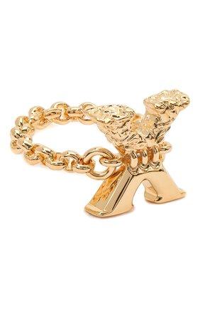 Женское кольцо alphabet x CHLOÉ золотого цвета, арт. CHC21SFR0XCB7 | Фото 1 (Материал: Металл)