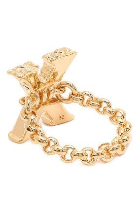 Женское кольцо alphabet x CHLOÉ золотого цвета, арт. CHC21SFR0XCB7 | Фото 2 (Материал: Металл)