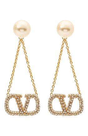 Женские серьги valentino garavani vlogo VALENTINO золотого цвета, арт. VW2J0H23/QVS | Фото 1