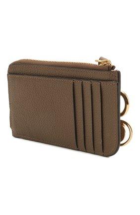 Женский кожаный футляр для кредитных карт CHLOÉ хаки цвета, арт. CHC21SP944C62 | Фото 2