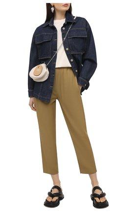 Женские брюки из вискозы TELA хаки цвета, арт. 14 0234 01 0153 | Фото 2