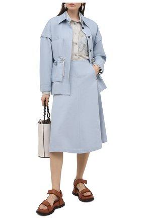 Женская куртка из льна и хлопка TELA голубого цвета, арт. 07 0001 01 0170 | Фото 2