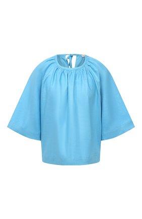 Женский льняной топ TELA голубого цвета, арт. 02 0016 01 0167 | Фото 1