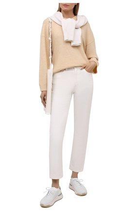 Женские комбинированные кроссовки SANTONI белого цвета, арт. WBI060790BGTCLRXI50 | Фото 2