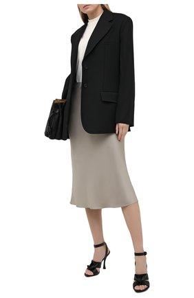 Женские кожаные босоножки atelier VALENTINO черного цвета, арт. VW2S0BH0/XJQ   Фото 2