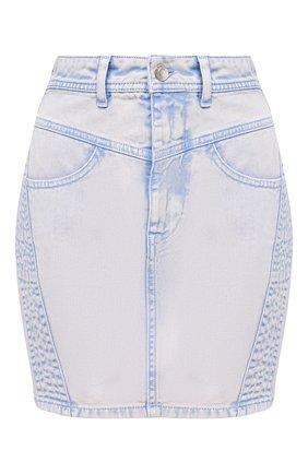Женская джинсовая юбка IRO сиреневого цвета, арт. WP31SILVER | Фото 1