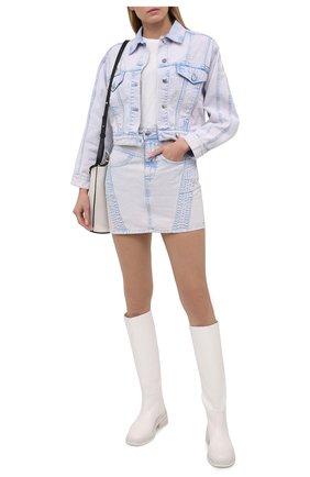 Женская джинсовая юбка IRO сиреневого цвета, арт. WP31SILVER | Фото 2