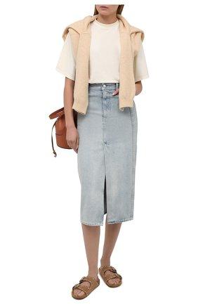 Женская джинсовая юбка IRO светло-голубого цвета, арт. WP31MISSA | Фото 2