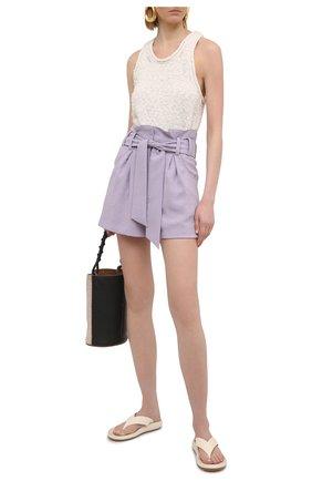 Женские шорты IRO сиреневого цвета, арт. WP30STEYBE | Фото 2